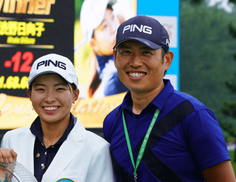 青木翔ゴルフコーチと渋野日向子選手