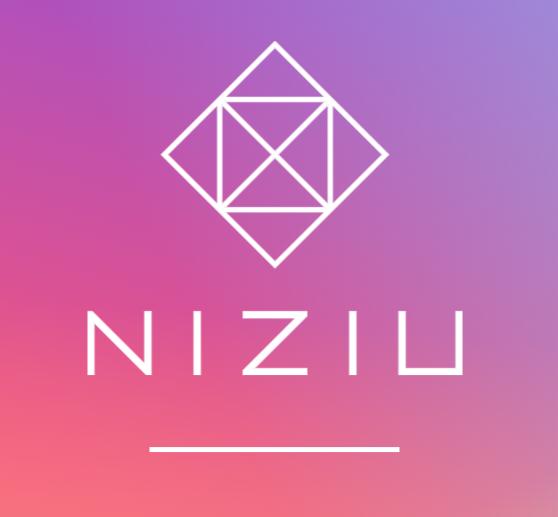 虹プロジェクトからデビューしたグローバルガールズグループNiziUの公式ロゴマーク